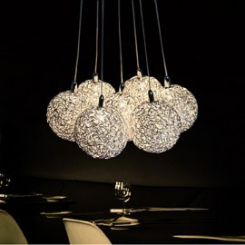 LED Pendant Light Modern 7-Light Home Furnishing Decorative Aluminum Pendant Light , Dining Room, Bedroom, Living Room