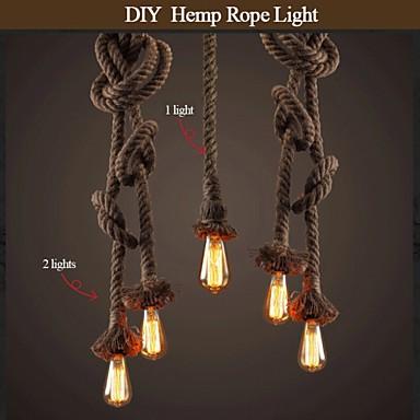 1 light diy art hemp rope light creative hemp rope chandelier long 1 light diy art hemp rope light creative hemp rope chandelier long 100cm send 1 bulb mozeypictures Images