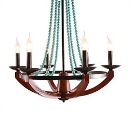 Bohemia 6 Simple European Mediterranean Head DropAmerican Country British Rural Living Lamps