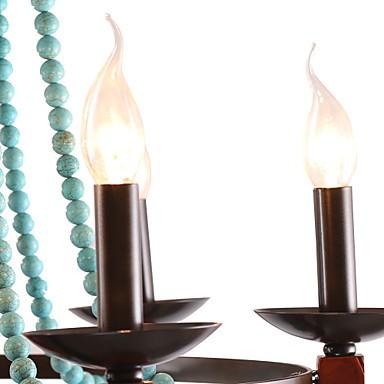 Bohemia 6 Simple European Mediterranean Head DropAmerican Country British Rural Living Lamps