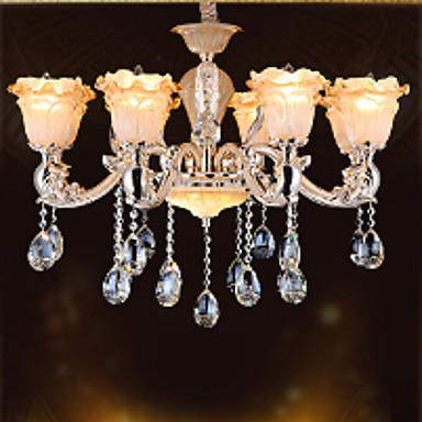 European Style Retro Crystal Pendant lamp American Village living Room lamp