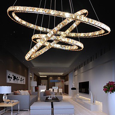 YL LED Ceiling Lights with Fashion Style Ring Crystal Ceiling Lamp