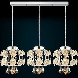 Flowers and Crystal Chandeliers Living Room/Bedroom/Dining Room/Study Room Pendant Lights