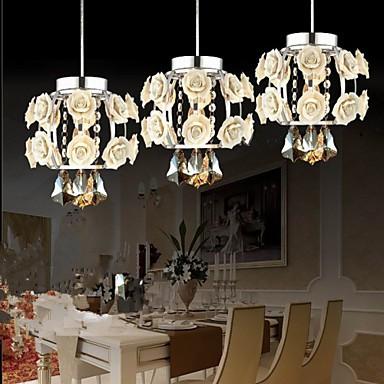 Flowers and Crystal Chandeliers Living Room/Bedroom/Dining Room/Study Room Pendant Lights
