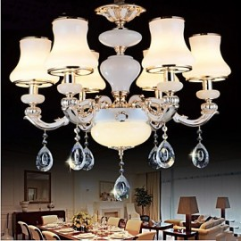 The luxurious Natural Jade Pendant lamp Of The European Crystal Pendant lamp