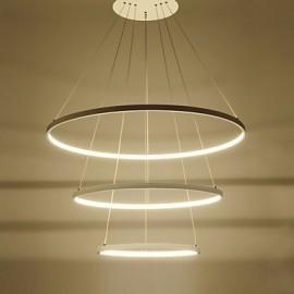 Modern Design/90W LED Pendant Light Three Rings /Fit for Showroom,Living Room, Dining Room,Study Room/Office, Game Room