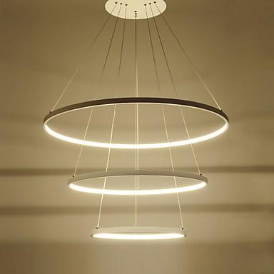Modern Design 90W LED Pendant Light Three Rings Fit For ShowroomLiving Room