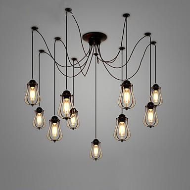 Vintage Edison Multiple Ajustable Diy Ceiling Lamp Light Pendant Lighting Chandelier Modern Chic Industrial Dining