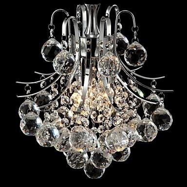 Max 60w moderncontemporary crystal chrome chandeliers pendant max 60w moderncontemporary crystal chrome chandeliers pendant lights living room bedroom aloadofball Gallery