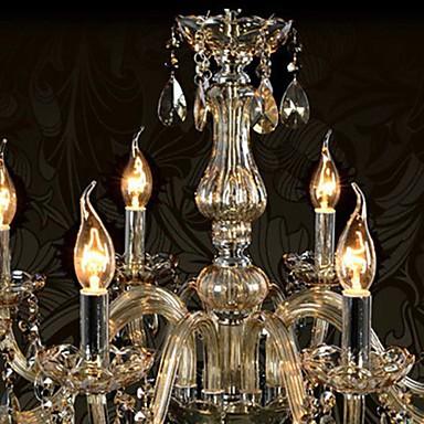 110V OR 220V 8 Lights Luxury Crystal Chandelier/Cognac Color/K9 Crystal Chandeliers Living Room / Bedroom