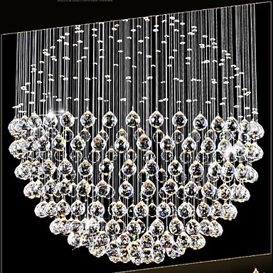 Led pendant light modern crystal chandelier 12 lights silver canpoy led pendant light modern crystal chandelier 12 lights silver canpoy clear crystal globe ceiling lamps fixtures aloadofball Choice Image