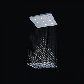 50w Modern/Contemporary Crystal Chrome Metal Flush Mount Living Room / Hallway