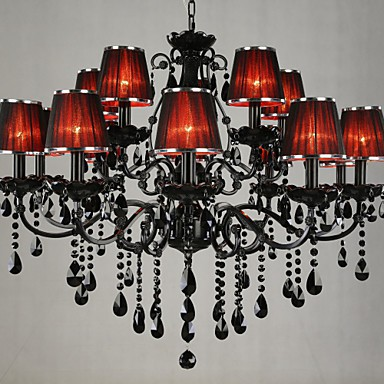 Chandeliers Crystal Modern/Contemporary Living Room Crystal,15 Light Red