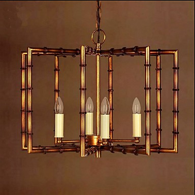 American Country Simple Antique Copper Iron Chandelier Chandelier Creative Restaurant