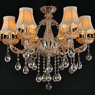 Chandeliers Crystal Traditional/Classic Living Room Glass, 6 Light