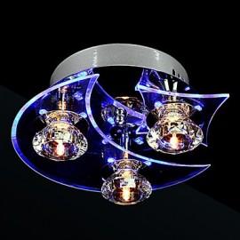 Chandelier Modern LED Crystal Living 3 Lights