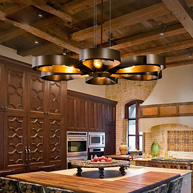 Retro Classic Metal Ceiling Lights Simple Dining Room