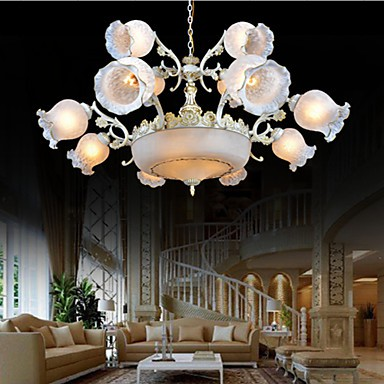 Chandeliers, Traditional/Classic/Vintage/Retro Living Room/Bedroom/Dining Room/Study Room/Office/Hallway Metal