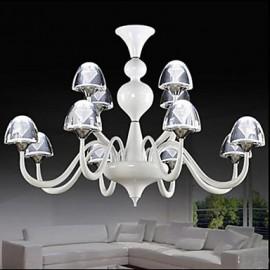 Modern Minimalist Creative LED Crystal Mushroom Pendant 8+4