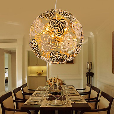 Simple Modern Chandelier Crystal Ball Globe Pendant Light