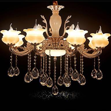 Jade Crystal Pendant lamp Villa Hotel 8