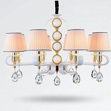 New Fabric Chandelier 8 Light Modern Minimalist High-Grade Lamp 110V or 220V