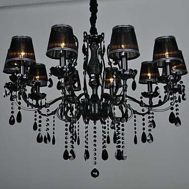 Chandeliers Crystal Modern/Contemporary Living Room Crystal,10 Light Metal