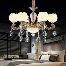 European style crystal pendant creative personality Korean American style zinc alloy Garden Restaurant lights