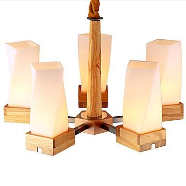 Simple Art lighting Solid wood Creative Iiving Room Ceiling lamp 5