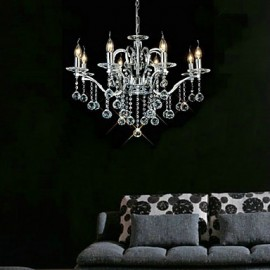 Elegant Crystal Chandelier with 8 Lights