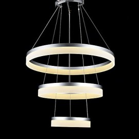 Round LED Chandelier Lights Lighting Modern Acrylic Lamps Luxurious Three Rings Ceiling Light Fixtures 204060