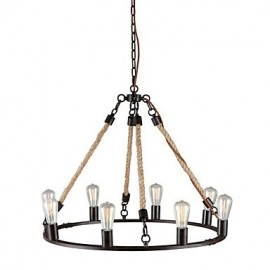MAX:60W Vintage Mini Style Painting Metal Chandeliers Bedroom / Dining Room / Entry / Hallway