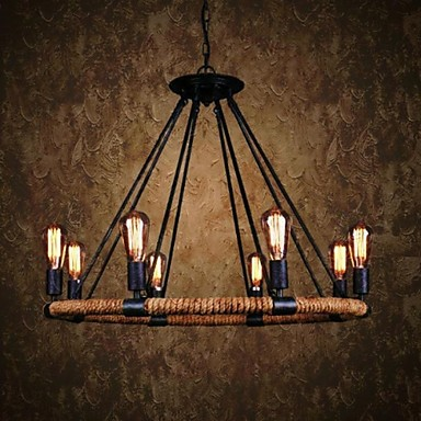 40W Traditional/Classic / Rustic/Lodge / Vintage / Retro / Country Painting Metal Pendant LightsLiving Room / Bedroom / Dining Room /