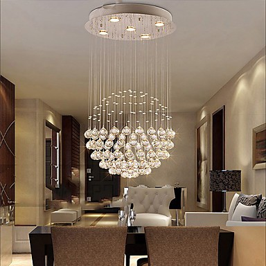 Modern/Contemporary / Traditional/Classic / Rustic/Lodge / Tiffany / Vintage / Country / Island Crystal / LED Electroplated Metal Pendant Light