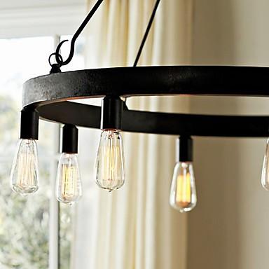 60W E27 Retro Style Iron Pendent Light with 8 Lights