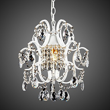 Iron Painting Chandelier with Clear Crystal Modern Lighting Lamp