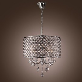MAX:60W Traditional/Classic Crystal Chrome Metal Chandeliers Living Room / Bedroom / Dining Room / Study Room/Office / Entry