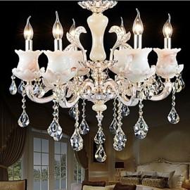 European Style Zinc Alloy Candle Crystal Pendant lamp