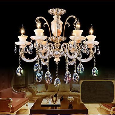 European High - Grade Jade Crystal Pendant Lamp - Room Atmosphere Zinc Alloy Pendant lamp Candle Crystal lamp