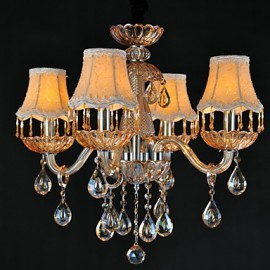 Chandeliers Crystal Retro Living Room Glass, 4 Light