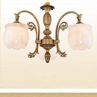 The living Room Bedroom Study Copper Marble Lamp lamp American Restaurant