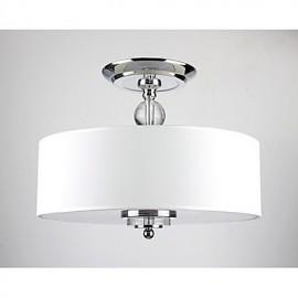 Elegant Crytal Flush Mount with 6 Lights in Cylinder Shade