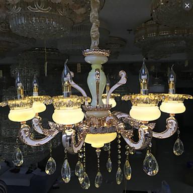 European Style High-grade Zinc Alloy Imitation Jade Crystal Pendant