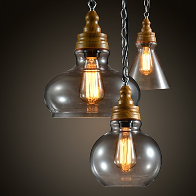 3 Light MAX 60W Modern/Contemporary Mini Style Metal Chandeliers Living Room / Bedroom / Dining Room / Study Room/Office Pendant Light