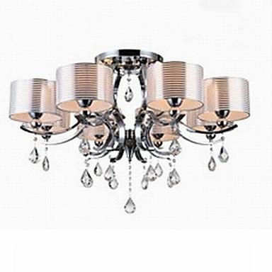 Modern K9 Crystal Chandelier E27 8 Lights
