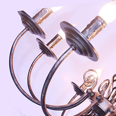 25W Retro Designers / Candle Style Others Metal Chandeliers Living Room / Bedroom / Dining Room / Study Room/ Hallway