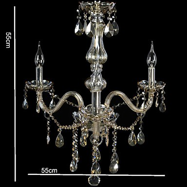 110V OR 220V 3 Lights Luxury Crystal Chandelier/Cognac Color/K9 Crystal Chandeliers/Hallway/Entry