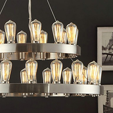 MAX:60W Vintage Mini Style Chrome Metal Chandeliers Bedroom / Dining Room / Study Room/Office / Entry / Hallway