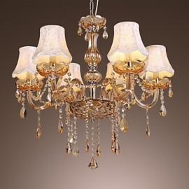 European Style Luxury 6 Light Chandelier With K9 Crystal