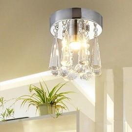 Modern Crystal 1 Lights Flush Mount In Crown Shape